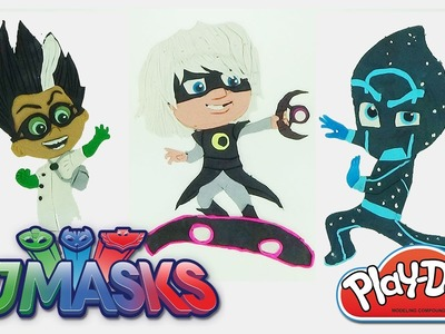 How to make all villains PJMASKS in Play-Doh modeling clay Blue