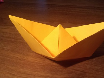 How To Make an Easy Paper Boat (Traditional) - Origami