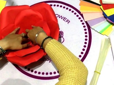 How to make an Origami big Rose 2016 on youtube