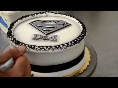 How to make Father Day cake - Super Dad Cake Tutorial