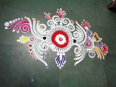 How to make new fancy & beautiful rangoli design from latest rangoli
