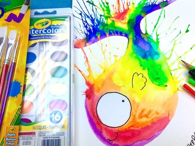 How to paint a EASY Rainbow Fish Beginner Watercolor Tutorial