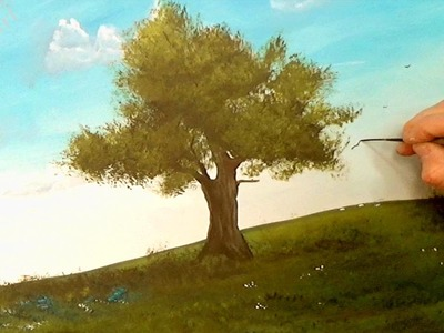 How to Paint a Tree and grass Easy, in Acrylics, Acrylic painting for beginners,#clive5art