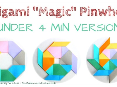 July 4th Craft for Kids - Origami Ninja Star: How to Make A Paper Pinwheel or Origami Magic Circle