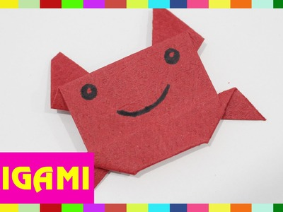 Origami Crab - How To Fold Crab  (Kasumi paper)