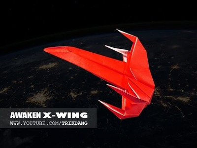 Origami for Kids: How to make a Star Wars Paper Airplane | Poe's X-wing