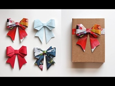 Cute Paper Bow Origami | PaperMade Things and Crafts
