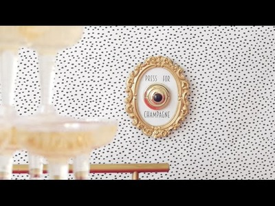 DIY: Champagne Button Wall Decor (YESSSS!)