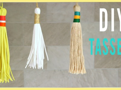 DIY | How To Make Tassels (Perfect for Back to School!!)
