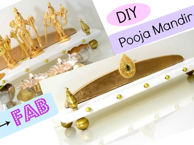 DIY Pooja Mandir.Mandap with Chopping Board. Foam board | Drab to Fab