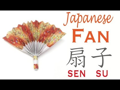 Easy☺︎ Japanese Paper Fan Origami Tutorial (Easy-to-grasp handle ver.)  - Origami Kawaii〔#112〕