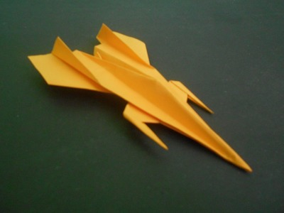 How to make  Paper Airplane - Easy Paper Plane Origami Jet Fighter - ORIGAMI PAPER