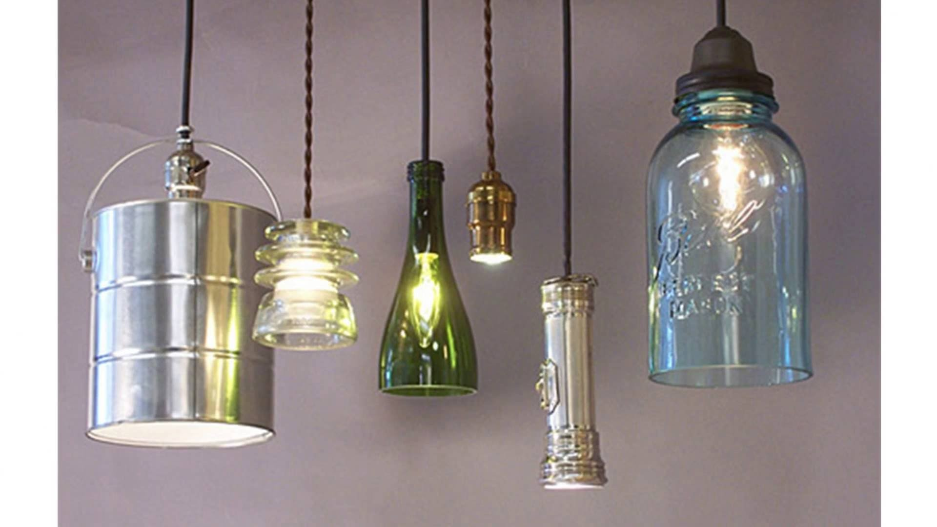 Светильники для сада из подручных материалов