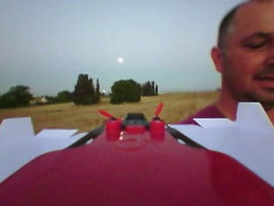 Low pass high speed flying with PowerUp FPV Paper Airplane VR Drone
