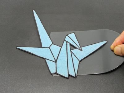 Paper Crane Pancake | Human 2D Printer Looks 3D | Strangely Satisfying Food Origami