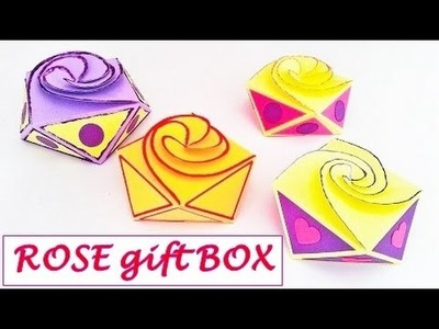Rose GIFT box out of ONE sheet of paper