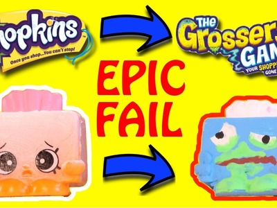SHOPKINS DIY Crafts Make THE GROSSERY GANG Toys - EPIC FAIL DIY Videos