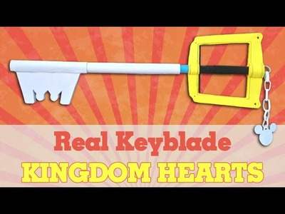 Sora's Keyblade (Kingdom Hearts) - How To Make A Paper Sword - Keyblade - Kingdom Hearts Tutorial