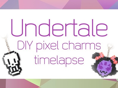 Undertale DIY pixel art charms timelapse