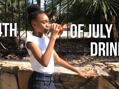 DIY 4th Of July Drinks