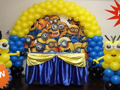 Diy How To Make Minions Disney Character With Balloon Amazing Funny Video For Kids, Babies, Children