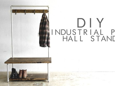 DIY Industrial Pipe Hall Stand   Modern Builds   EP.