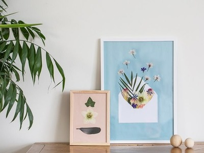 DIY: Pressed flowers in frame by Søstrene Grene