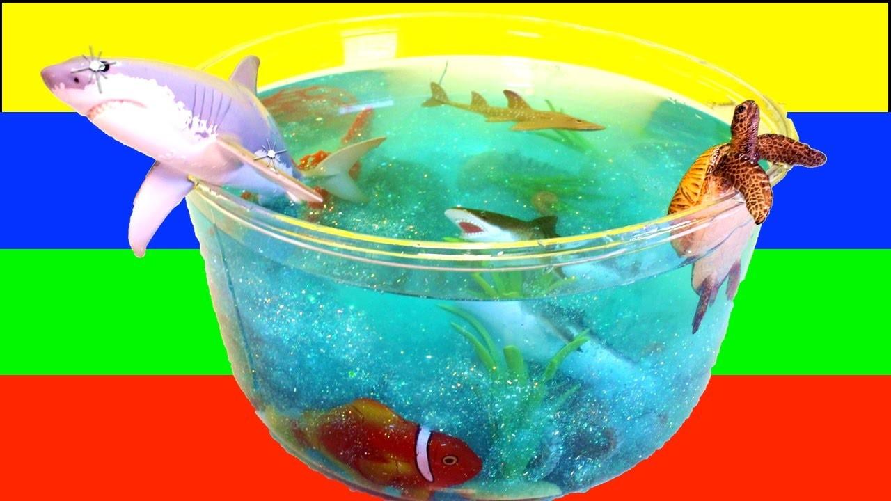 DIY SHARK Toys Slime Aquarium Fish Tank: Toy Sharks, Sea Animals, Toys and Slime | Craft Videos