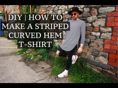 DIY | Striped Curved Hem Tee | Josh Barnett