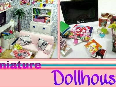Dollhouse Miniature Living Room #5 | Household & Finish | Vật dụng phòng khách | Ami DIY