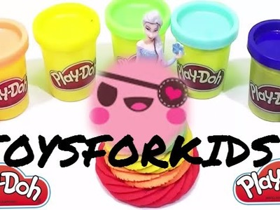 57  PLAY DOH Create Rainbow Dress For Elsa final Peppa Pig Watching make ice cream