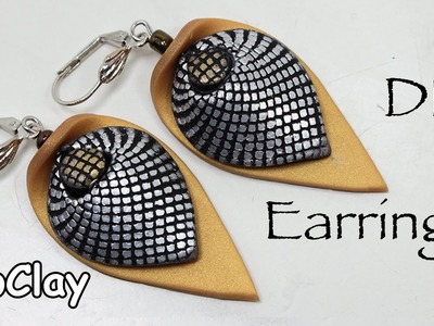 How to make a mesh effect . Polymer clay earrings tutorial