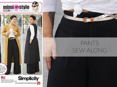 How to Sew Wide Leg Pants with Mimi G Simplicity Pattern 8177