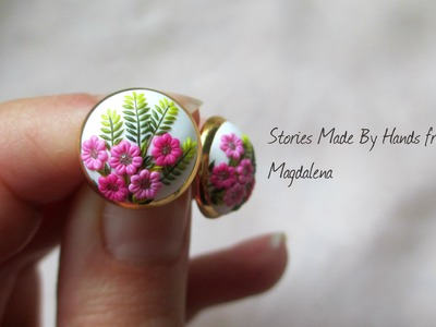 Interview about polymer clay jewelry with embroidery. applique technique