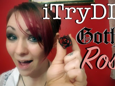 ITryDIY: Gothic Rose from Polymer Clay
