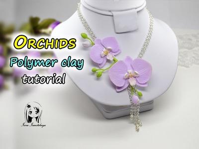 Pendant with orchids ✿ Polymer clay Tutorial ✿ Irina Ivanitskaya