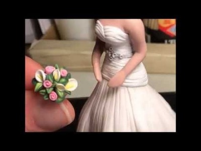 Polymer Clay Wedding Cake Topper Progression-Wishing Well Workshop