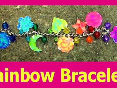 Rainbow Charm Bracelet Using Dies & Markers!