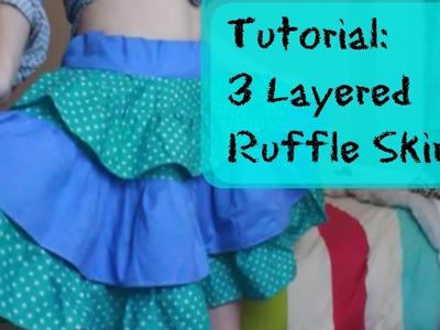 TUTORIAL | Circle Skirt | WITH RUFFLES