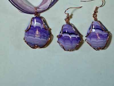 Wire Wrapped Polymer Clay Cabochon 1