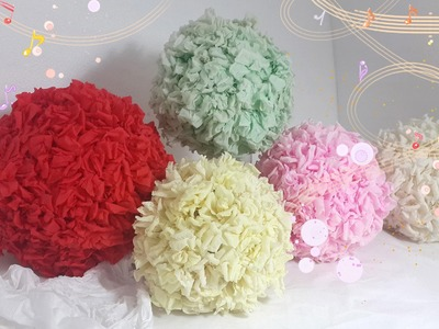 Cheaper Than You Think:  Paper Flower Ball