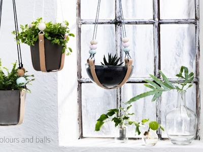 DIY by Panduro Hanging pot holders with leather
