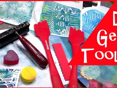 DIY CHEAP Gelli Printing Tools  & Student vs. Regular Gelli Plate