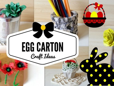 DIY Five Egg Carton Craft Ideas & Hacks | Recycling Project | by Fluffy Hedgehog