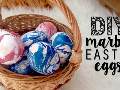 DIY MARBLE LOOK EASTER EGGS | DECORATION