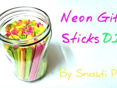 DIY Neon Gift Sticks | Srushti Patil
