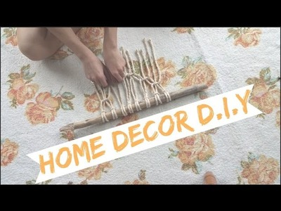 "DIY: Simplified "" Macrame "" Wall Hanging Home Decor"