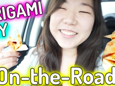 ORIGAMI IN THE CAR ║ Paper Crane on the Road