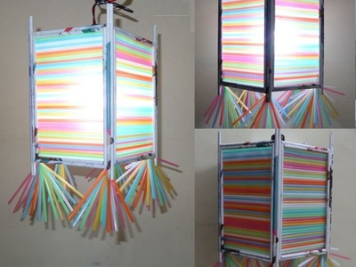 Paper Crafts Tutorial : 3D Multicolored Lamp Shade