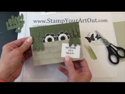 Paper Pumpkin Monster Card Monday Funday Stamp and Share Periscope Broadcast (5.9.16)